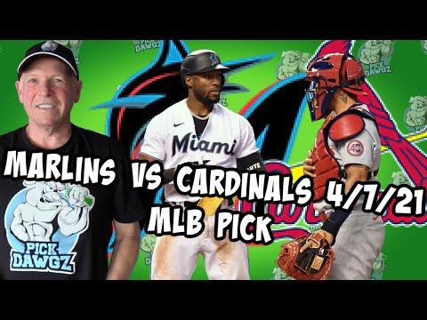 Miami Marlins vs St  Louis Cardinals 4/7/21 MLB Pick and Prediction MLB Tips Betting Pick