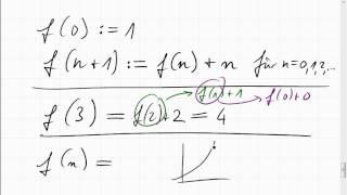07C.4 rekursiv definierte Funktion explizit machen