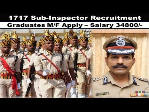Police Department Recruitment 2017   1717  Police Jobs   Graduate Pass Jobs  Apply now