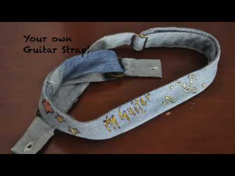 Guitar Strap From Old Jeans