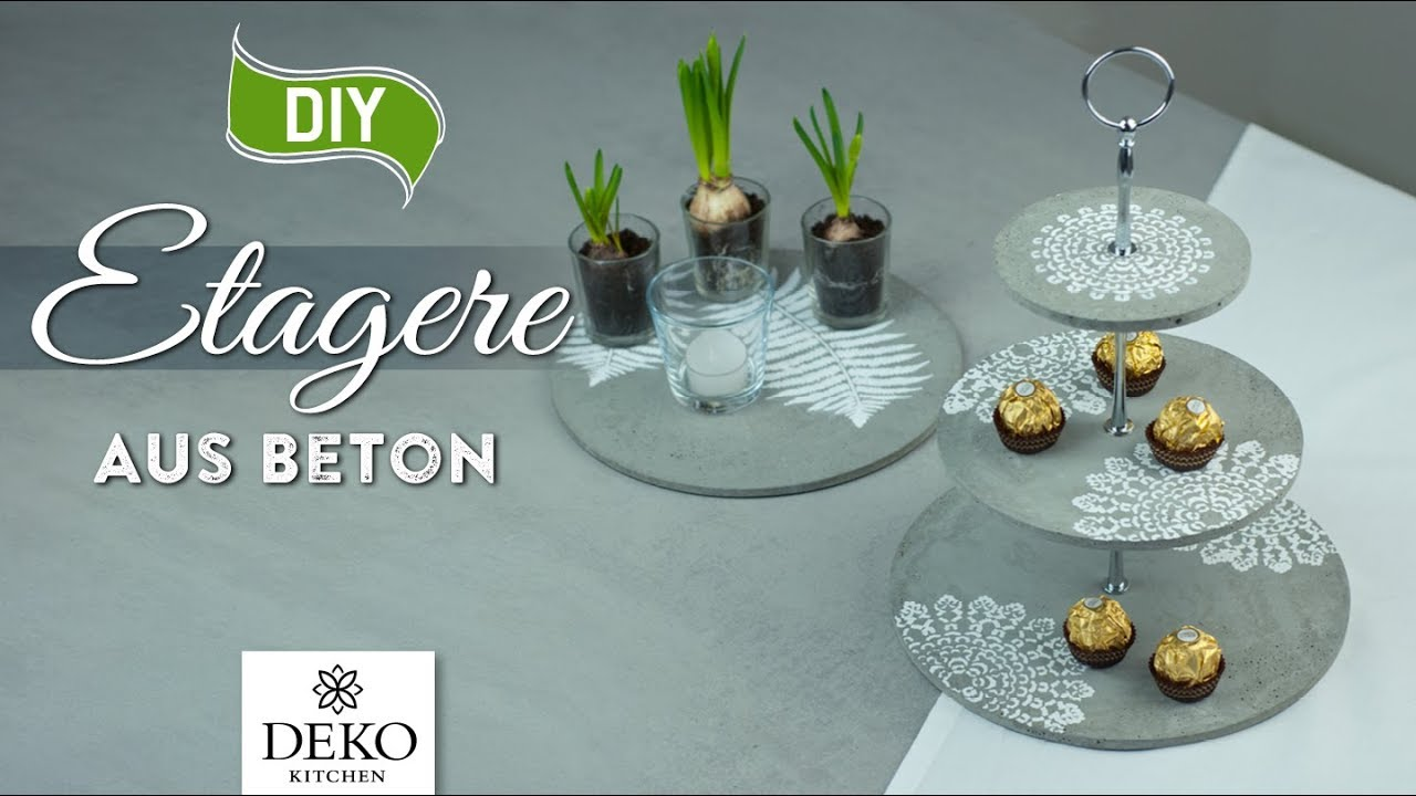 Diy coole etagere aus beton selbermachen how to deko kitchen youtube - Youtube deko kitchen ...