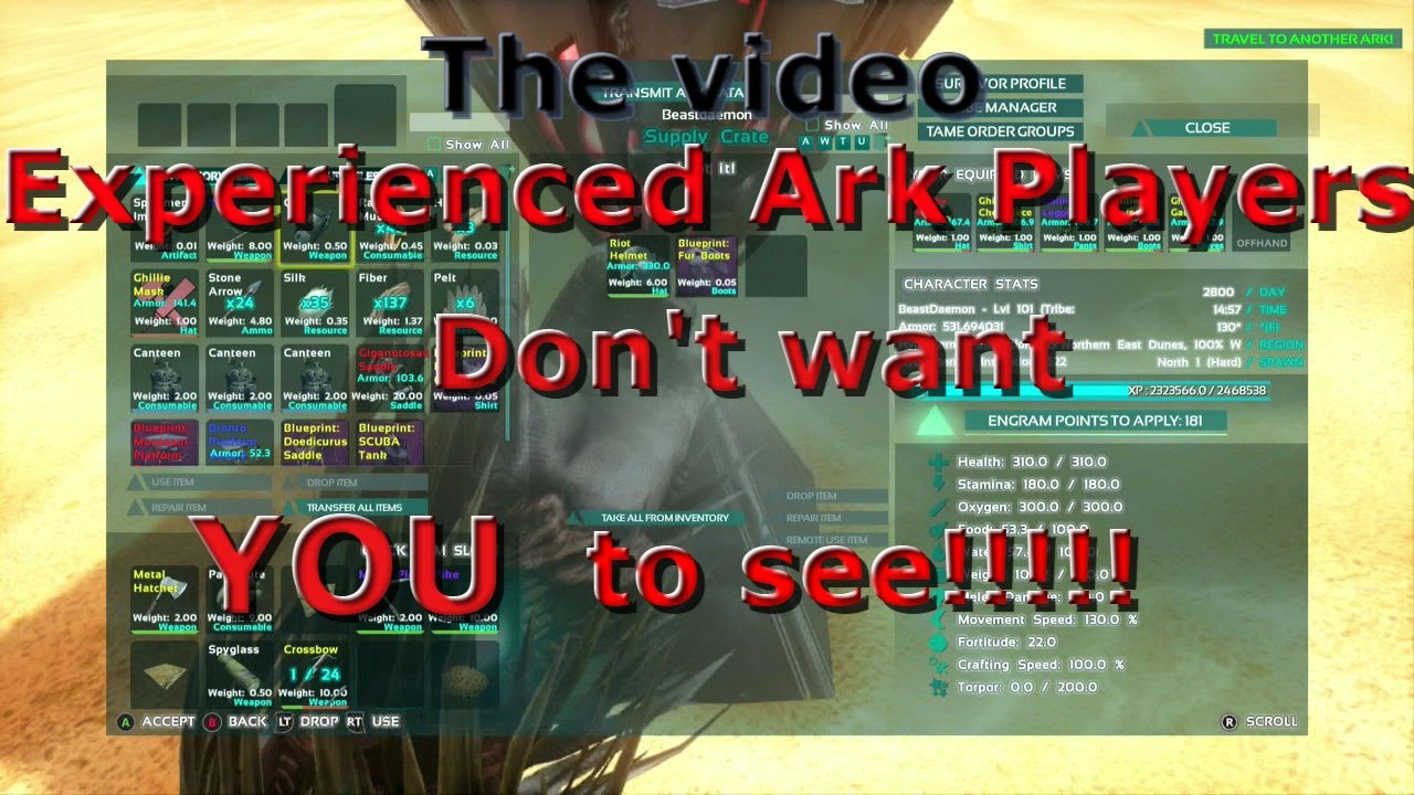The video experienced ark players dont want you to see youtube the video experienced ark players dont want you to see malvernweather Choice Image