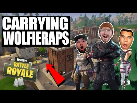 CARRYING WOLFIERAPS IN FORTNITE!! FORTNITE BATTLE ROYALE WITH TEAM ALBOE!!