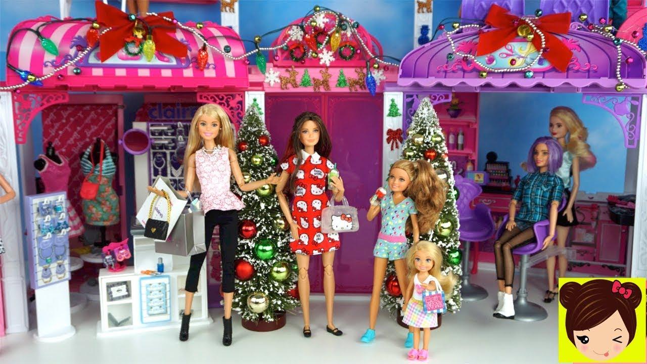 Barbie Y Sus Hermanas Compran Regalos De Navidad En El