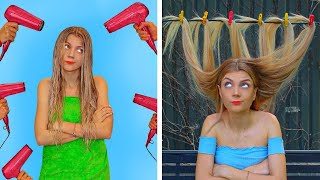 REAL LIFE WITH LONG HAIR! DIY Hacks And Funny Situations by Mr Degree