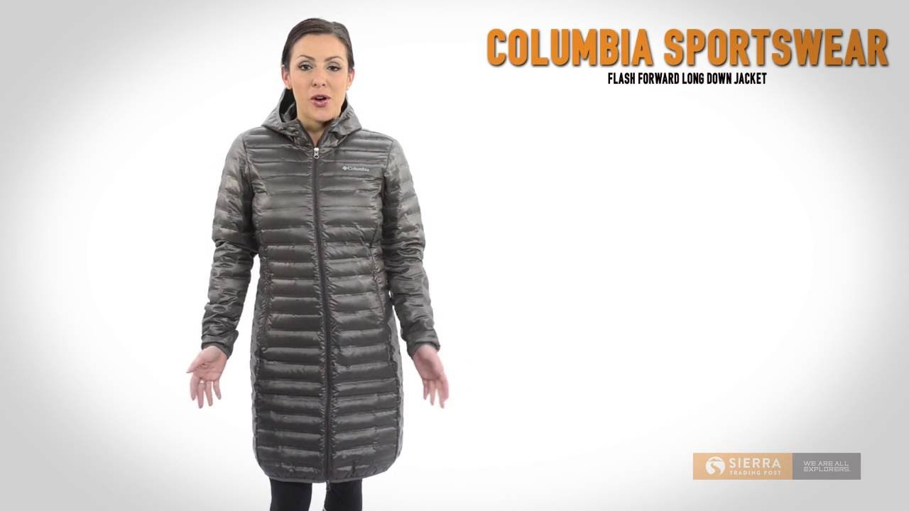 Columbia Sportswear Flash Forward Long Down Jacket - 650 Fill ...