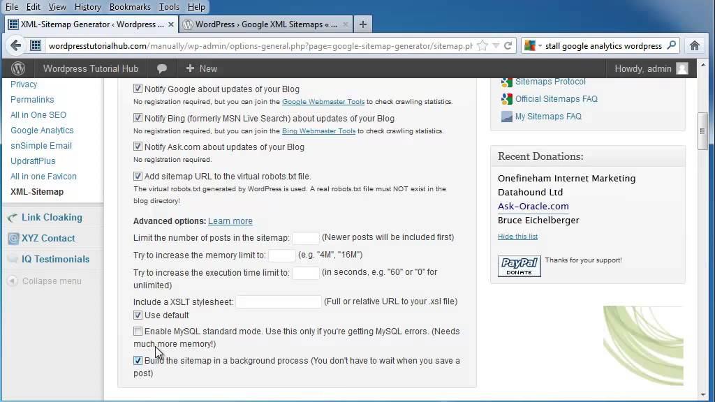 how to use the google xml sitemap generator for your wordpress youtube