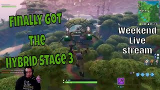 Live Ps4 Pro Fortnite Fun. Week 7 Challenges. Hybrid Skin Stage 3 gameplay.