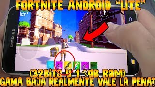 "✔️FORTNITE ANDROID ""LITE"" (32bits and 1.5gb ram) for LOW RANGE REALLY IS THE PENA DOWNLOAD IT"