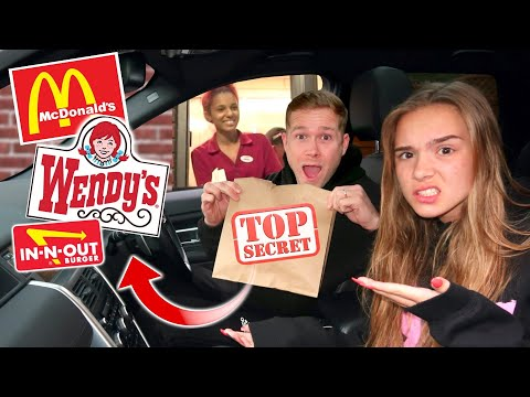 WE TRIED ORDERING SECRET MENU ITEMS! *IT ACTUALLY WORKED!! 🍔🍟