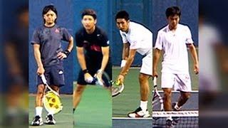 全日本テニス選手権87th QF 一藤木/ロンギ VS 内山/田川