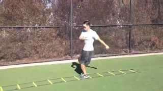 Ladder Drills: Over and Back w Twist | Sweat City Athletic Performance Training
