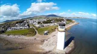 Southerness Lighthouse from the air with my DJI F450.