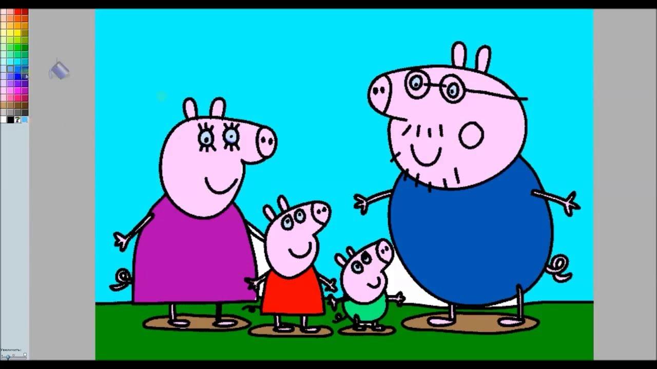 Свинка Пеппа - #раскраска_19 Peppa Pig - YouTube