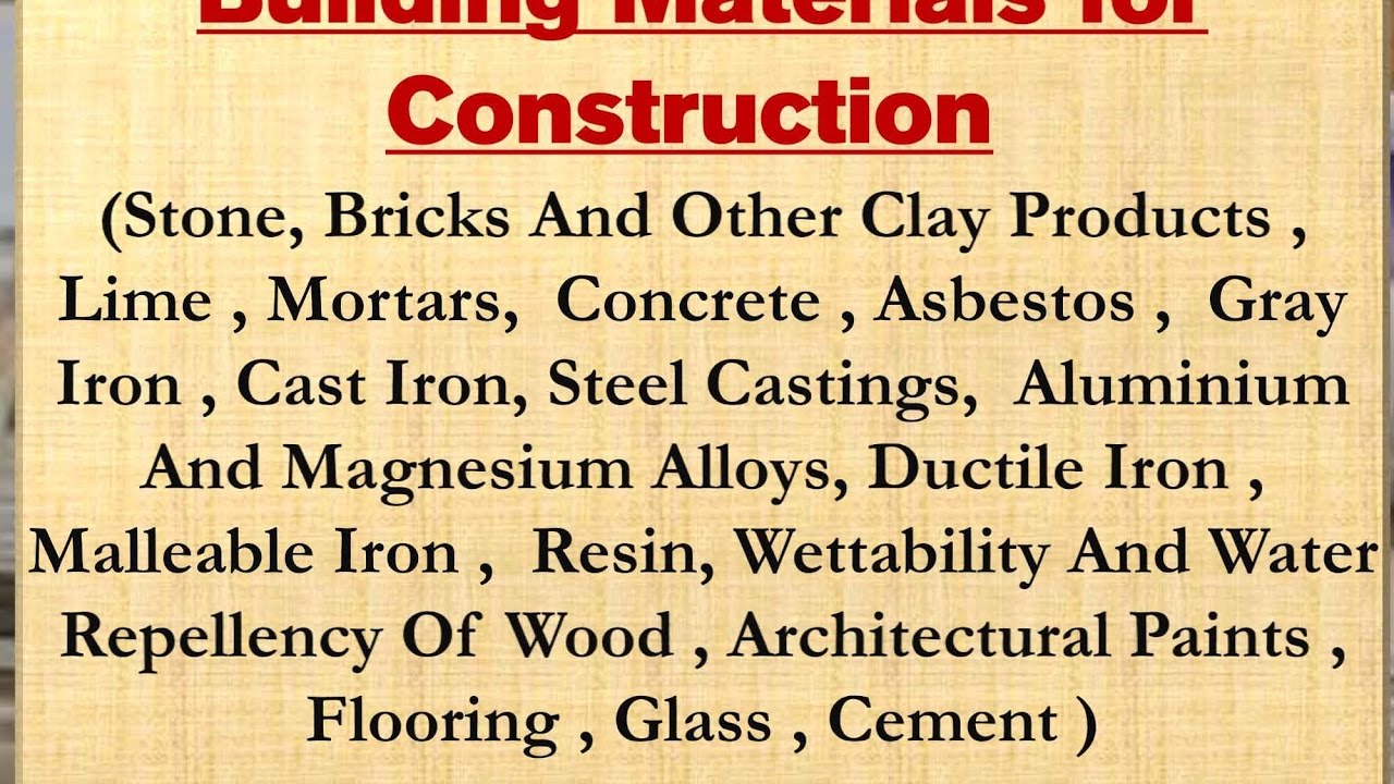 Production Of Construction Materials Manufacturing Building For