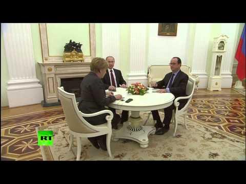 Merkel, Hollande, Putin meeting in Moscow to discuss Ukraine crisis