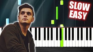 Martin Garrix & Dua Lipa - Scared To Be Lonely - SLOW EASY Piano Tutorial by PlutaX