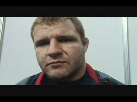 Les Sigman after his competition at 120 kg at World Wrestling Championships