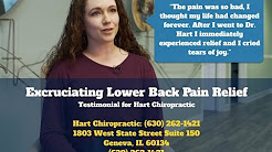 Excruciating Back Pain Relieved by Hart Chiropractic