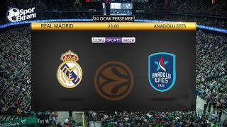 24.01.2019 Real Madrid-Anadolu Efes Maçı Hangi Kanalda? Saat Kaçta? Bein Sports Haber