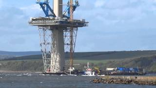 Supply Boat Queensferry Crossing  Firth of Forth Scotland