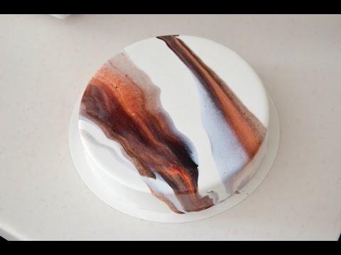 Шоколадная зеркальная глазурь рецепт фото пошагово