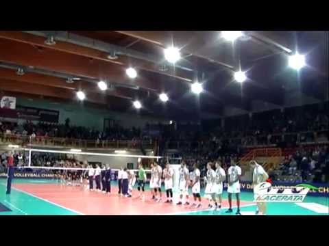 VOLLEY. CHAMPIONS LEAGUE. CUCINE LUBE TREIA - PARIS VOLLEY (3-0) - YouTube