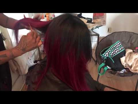 |Sams Beauty Empire Yaki Weave|  Inverted Middle Part Quickweave Bob