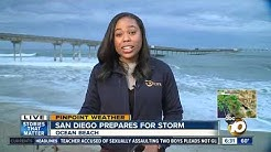 Tracking winter storm moving into San Diego