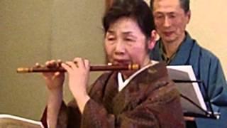 天白福祉会館で行われた、篠笛と長唄の新春邦楽コンサートの様子です。