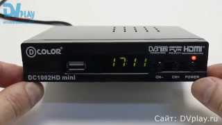D-Color 1002HD mini - обзор DVB-T2 ресивера(Обзор цифровой ТВ приставки D-Color 1002HD mini. Узнать цену ..., 2015-08-09T07:00:01.000Z)