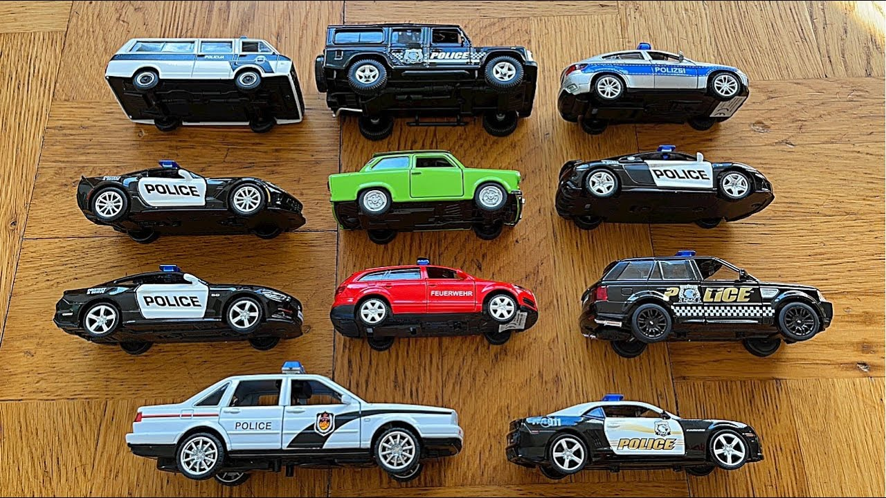 Diecast Police Cars From The Floor