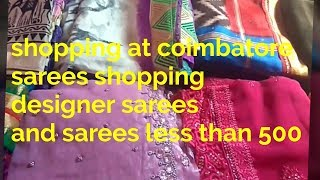 Shopping haul in coimbatore/Sarees at low price shopping