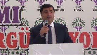HDP Bingöl İl Kongresi SELAHATTİN DEMİRTAŞ