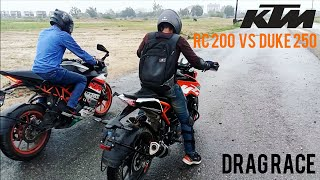 KTM RC200 VS Duke 250 | Drag Race