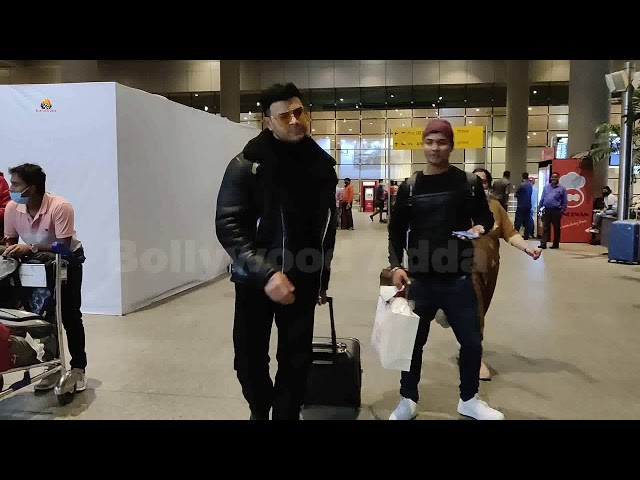 Sahil Khan Spotted At Airport Arrival