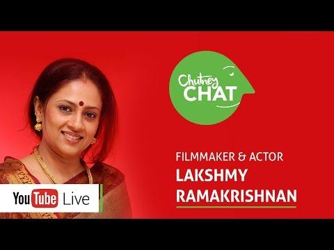Lakshmy Ramakrishnan on RJ Balaji - Chutney Chat Live Ep 6