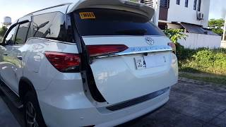 How to Adjust Power Tailgate / Liftgate Height - 2018 Toyota Fortuner