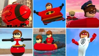 LEGO The Incredibles - All Elastigirl Transformations