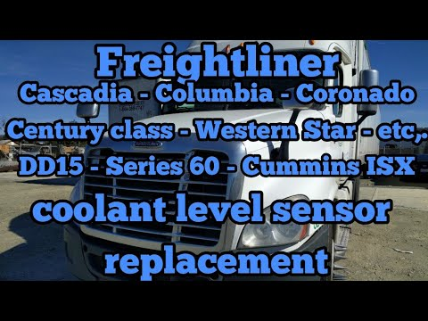 Freightliner Cascadia coolant level sensor remove replacement