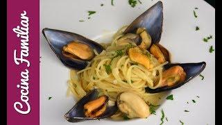 Espaguetis con mejillones a la marinera | Recetas caseras fáciles de Javier Romero paso a paso