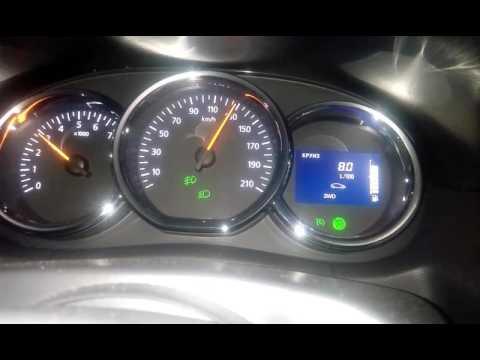 Рено дастер. 128 км/ч , мгновенный расход. 1.5 дизель