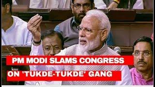 PM Modi slams Congress on ''Tukde-Tukde'' gang