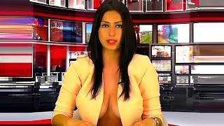 Repeat youtube video Albanian Student Shows Her Breasts, Lands News Anchor Role
