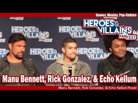Men of Arrow  Manu Bennett, Rick Gonzalez, & Echo Kellum