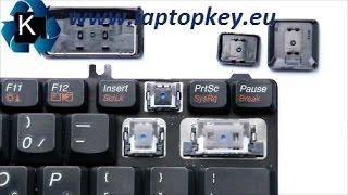 Instrukcja jak zdjąć ściągnąć założyć naprawić klawisz klawisze w klawiaturze Lenovo 3000 N100 V100