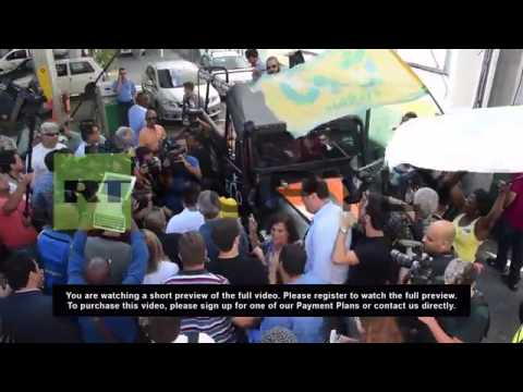 Brazil: Marina Silva greets supporters in Rio