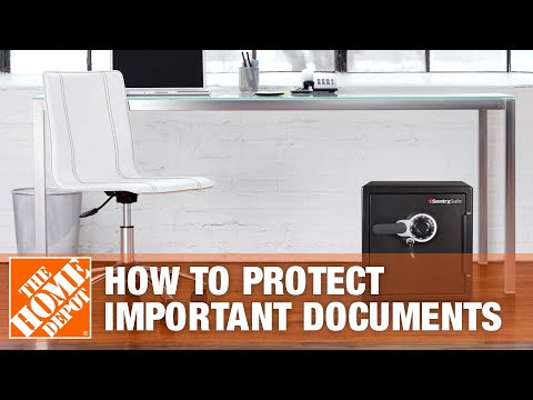 How to Use Sentry Safes to Protect Important Documents Fireproof and Waterproof   The Home Depot
