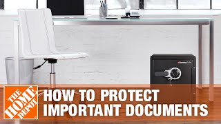 How to Use Sentry Safes to Protect Important Documents Fireproof and Waterproof - The Home Depot