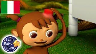 Cinque Scimmiette | 20 Minuti di Canzoni per Bambini | #cartonianimati | Little Baby Bum Italia |